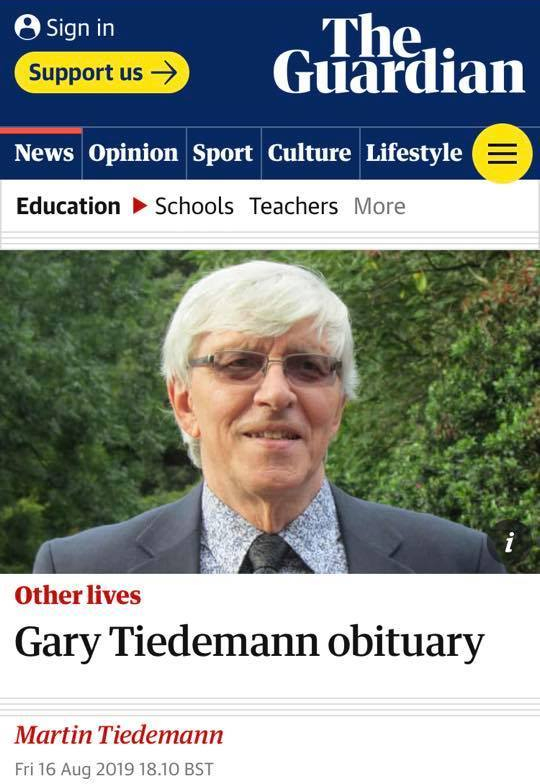 Guardian image of obituary